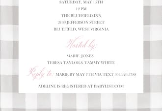 Sweet Feet Baby Girl Shower Invitation