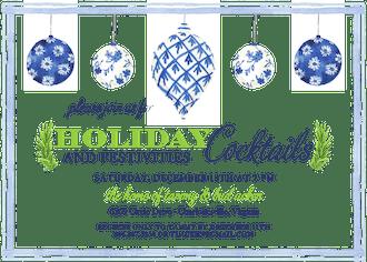 Blue Ornaments Invitation