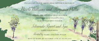 Wine Country Vineyard Invitation