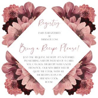 Dusty Pink Blooms Details Card