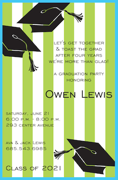 Preppy Grad Invitation